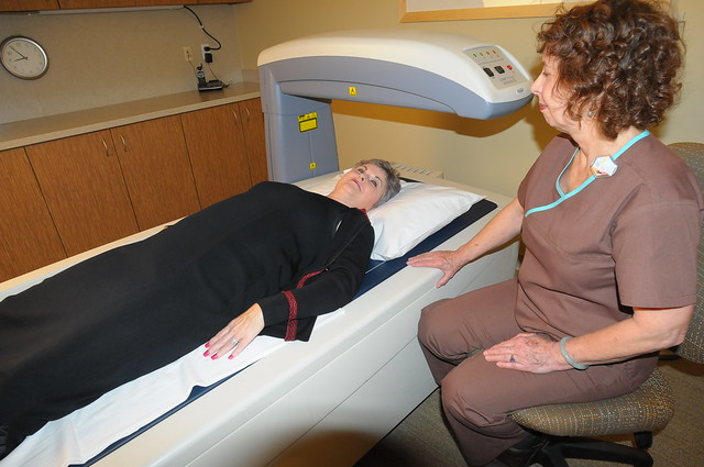 a patient having imaging performed